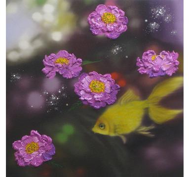 Sumiko Seki - Goldfish & Peony - courtesy of TAG Fine Arts