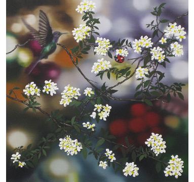Sumiko Seki - Hummingbird, Ladybird & Rambling Flower - courtesy of TAG Fine Arts