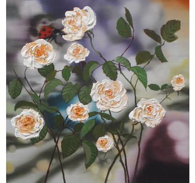 Sumiko Seki - Ladybird & White Roses  - courtesy of TAG Fine Arts