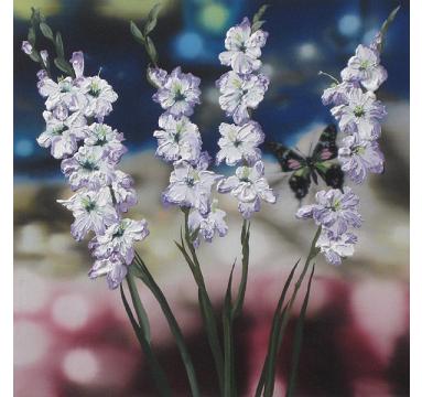 Sumiko Seki - Purple Spotted Swallowtail & Gladiolus - courtesy of TAG Fine Arts
