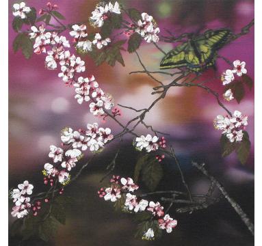 Sumiko Seki - Swallowtail & Cherry Blossom - courtesy of TAG Fine Arts