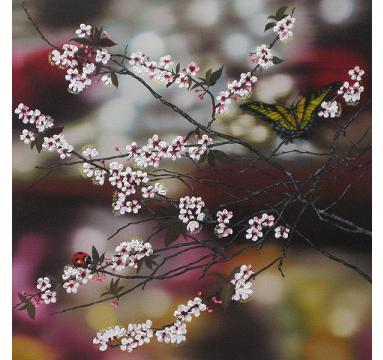 Sumiko Seki - Swallowtail & Ladybird & Cherry Blossom - courtesy of TAG Fine Arts
