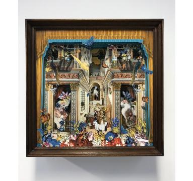 Kristjana S Williams - The Gold Architect's Parakeets Diorama - courtesy of TAG Fine Arts