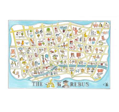 Adam Dant - The London Rebus - courtesy of TAG Fine Arts