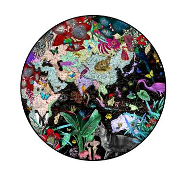 Kristjana S Williams - The Neon Black Sea (Africa & Asia) - courtesy of TAG Fine Arts