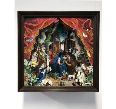 Kristjana S Williams - The Red Velvet Hound Gossaert Diorama - courtesy of TAG Fine Arts