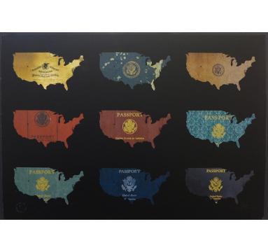Yanko Tihov - Passport Map USA - courtesy of TAG Fine Arts