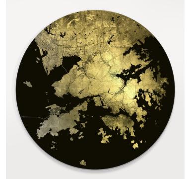 Ewan David Eason - Mappa Mundi Hong Kong (Black) - courtesy of TAG Fine Arts