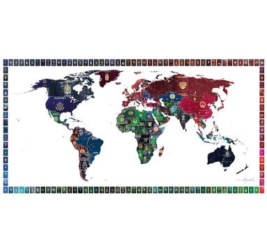 Yanko Tihov - World Passport Map - courtesy of TAG Fine Arts