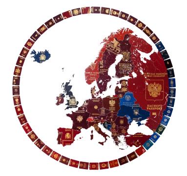 Yanko Tihov - Europe 2019 (Blue Britain) - courtesy of TAG Fine Arts