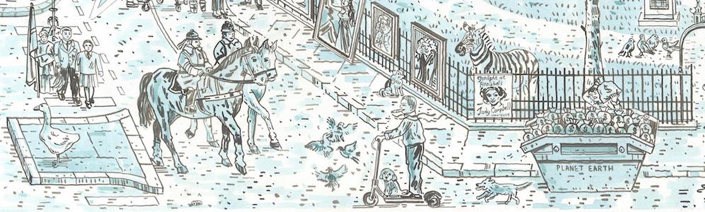 Adam Dant - Berkeley Square - courtesy of TAG Fine Arts