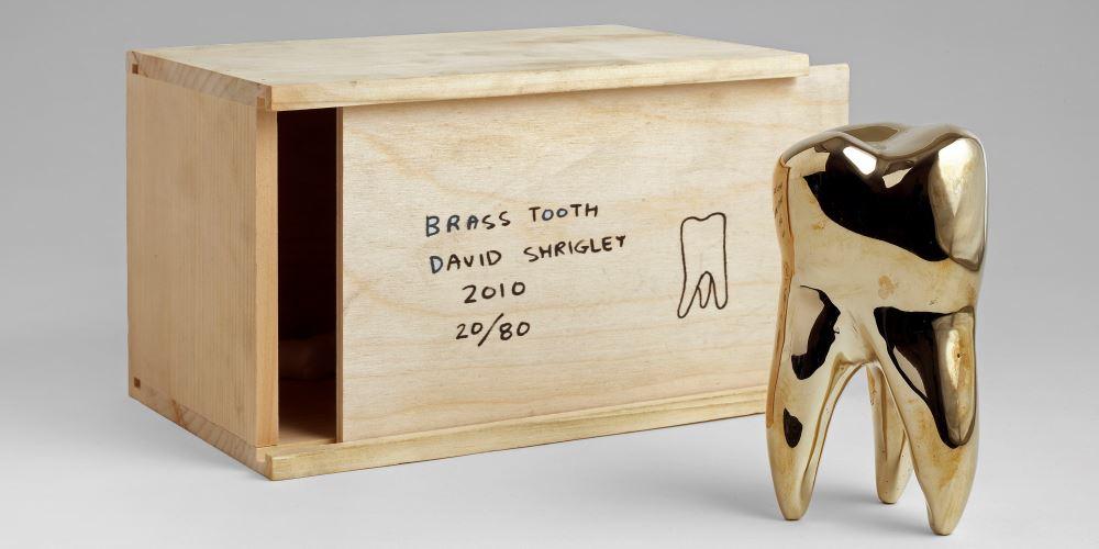 David Shrigley - Brass Tooth - courtesy of TAG Fine Arts