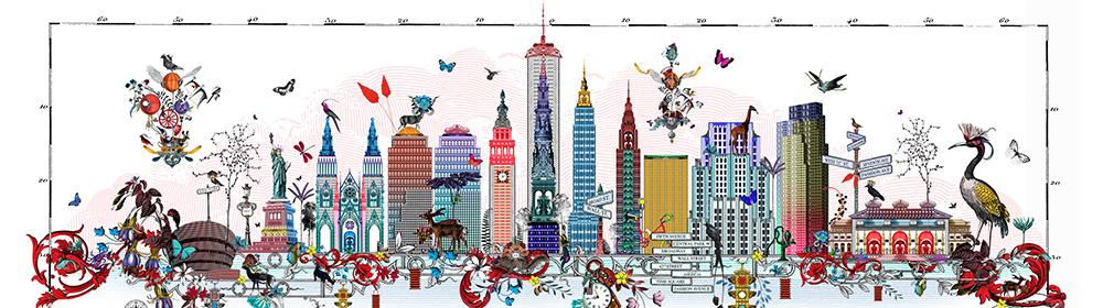 Kristjana S Williams - New York Skyline (Nyja Jorvik Skyline) - courtesy of TAG Fine Arts