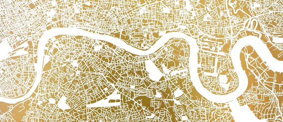 Ewan David Eason - Mappa Mundi White Silkscreen Print  - courtesy of TAG Fine Arts