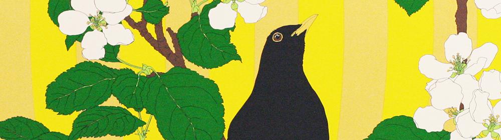 Robin Duttson - Apple Blossom Graphic Impression 1 - courtesy of TAG Fine Arts