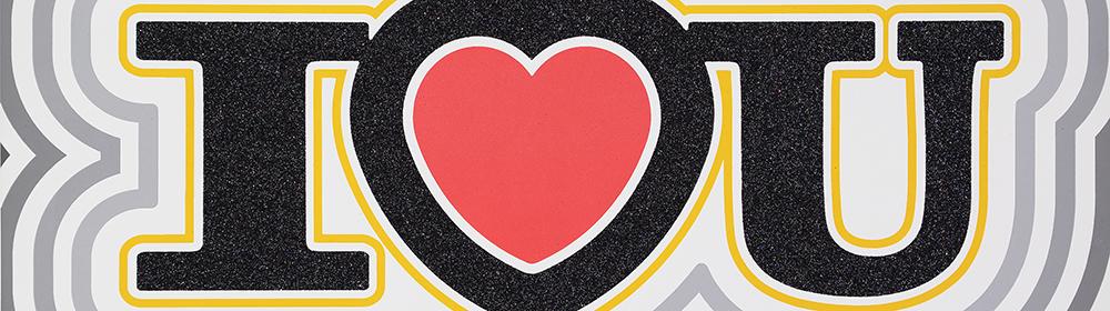 Ryan Callanan - I Heart U (Classic Red) - courtesy of TAG Fine Arts