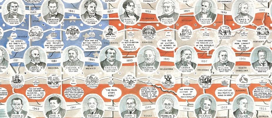 Adam Dant - Presidents of the USA - courtesy of TAG Fine Arts