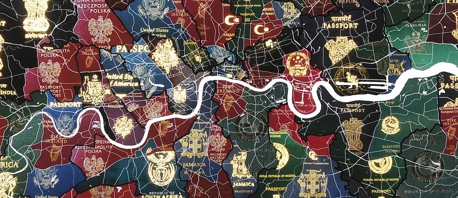 Yanko Tihov - London Passport Map - courtesy of TAG Fine Arts