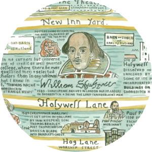 "Adam Dant | ""William Shakespeare's Shordiche"""