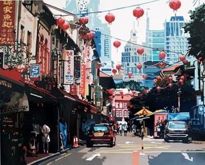 Alicia Dubnyckyj -Temple Street, Singapore - courtesy of TAG Fine Arts