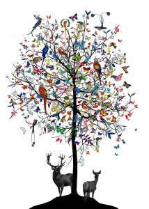 Kristjana S Williams - Althjodlegt tre - International Tree - courtesy of TAG Fine Arts