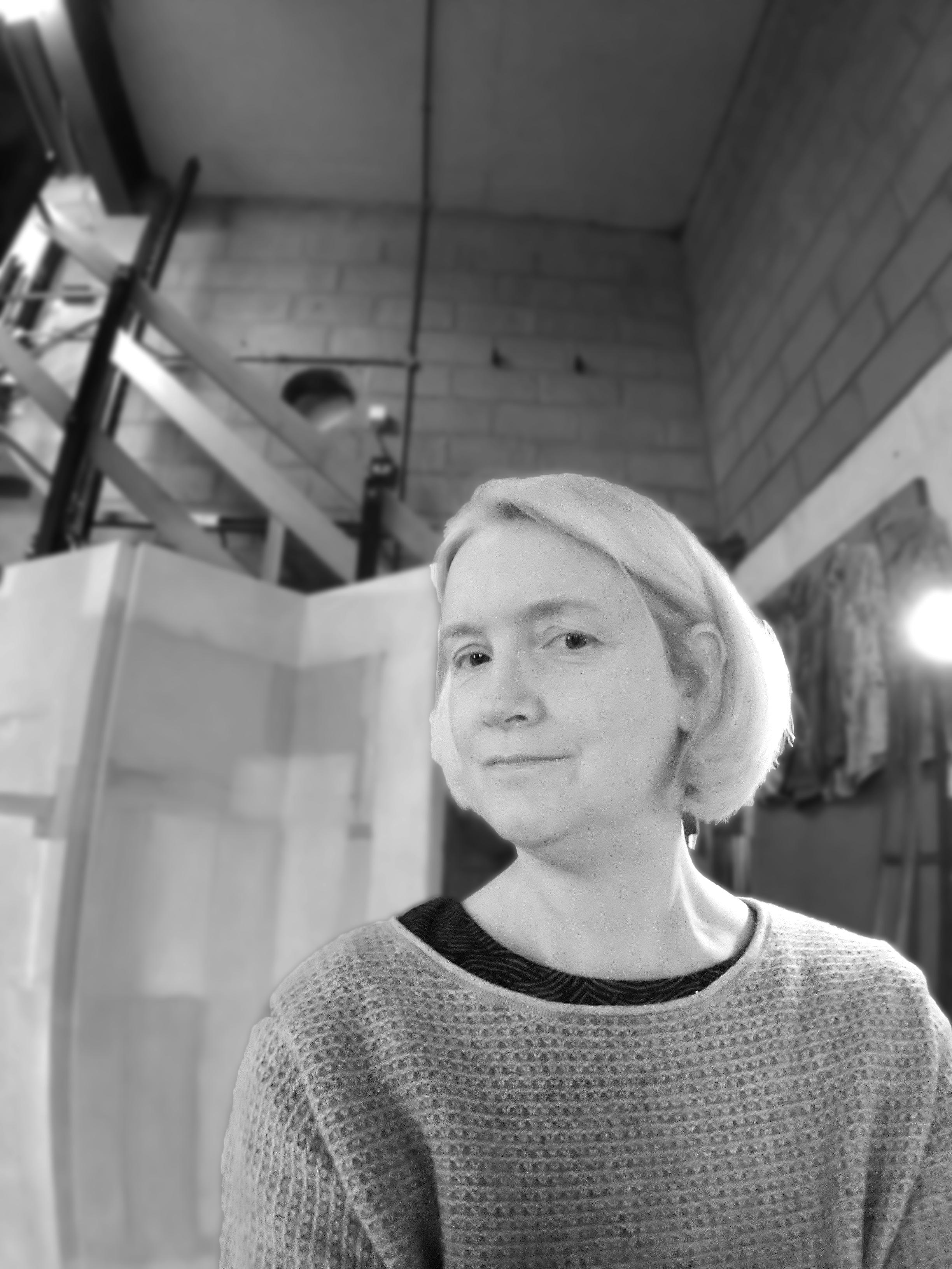 Emma Johnson in her studio