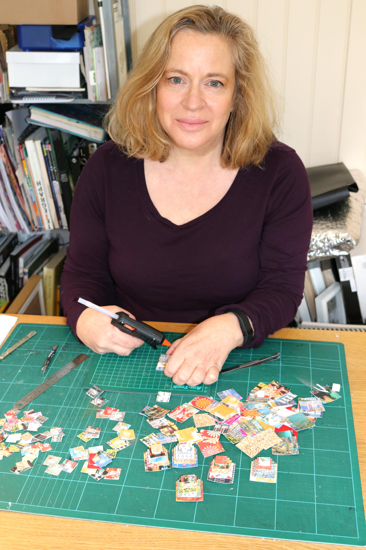 Sue Haskel at work - courtesy of TAG Fine Arts