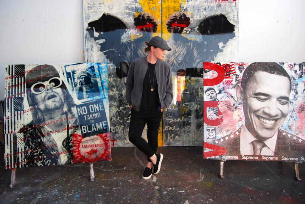 Ashleigh Sumner in her studio