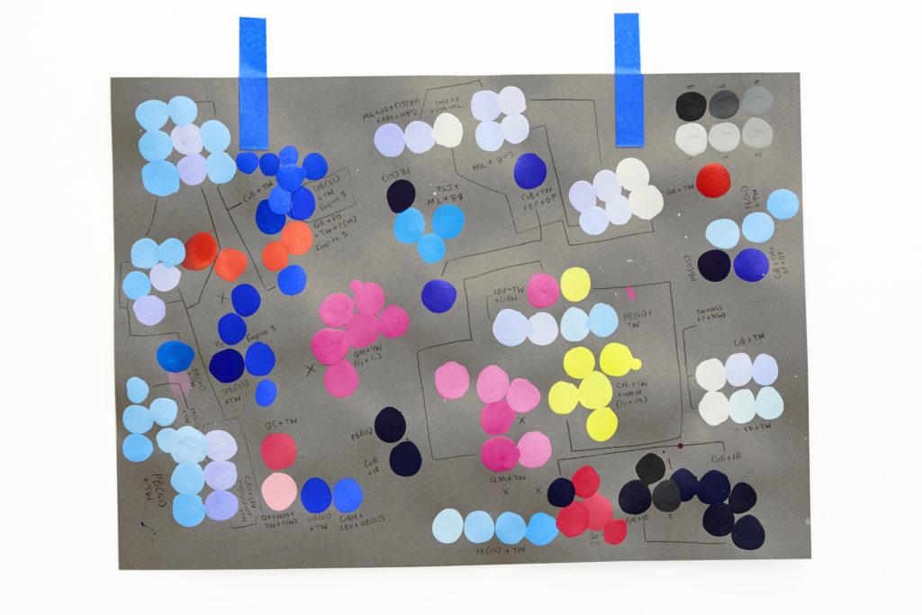 David's colour swatches