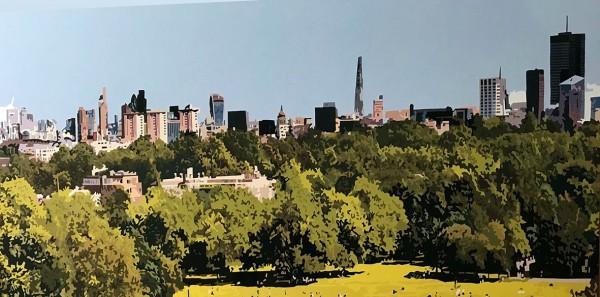 Alicia Dubnyckyj - The City from Primrose Hill, London - courtesy of TAG Fine Arts